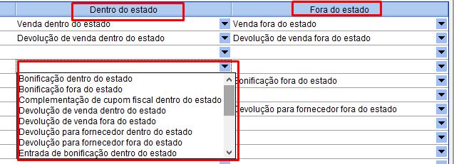 """Recorte da definição do tipo de saída padrão para operações """"intraestaduais"""" e interestaduais"""